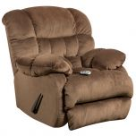 Massaging Sharpei Espresso Microfiber Recliner with Heat Control [AM-H9460-5983-GG]
