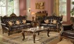 Atlanta Traditional Living Room Set in Brown