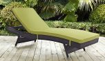 Convene Outdoor Patio Chaise in Espresso Peridot