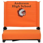 Embroidered Game Day Seats by Flash with Ultra-Padded Seat in Orange [XU-STA-OR-EMB-GG]