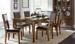 High Peak Transitional Dining Room Set in Brown Cherry