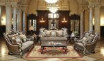 Jose Traditional Living Room Set in Champagne
