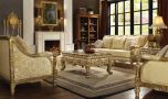 Kittitas Traditional Living Room Set in Antique Gold
