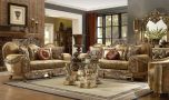 Klickitat Traditional Living Room Set in Antique Brown