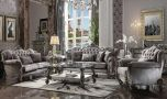 Pembroke Traditional Living Room Set in Antique Platinum