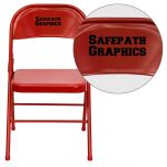 Personalized HERCULES Series Triple Braced & Double Hinged Red Metal Folding Chair [HF3-MC-309AS-RED-EMB-VYL-GG]