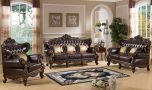 Reno Traditional Living Room Set in Brown