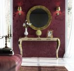 Segovia Modern Console Table in High Gloss Gold
