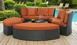 Sojourn Outdoor Patio Sunbrella Daybed in Canvas Tuscan