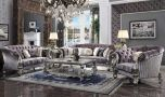 Tenby Traditional Living Room Set in Antique Platinum