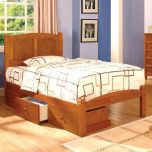 Warsaw Youth Cottage Bedroom Set in Oak