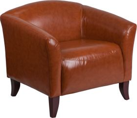 HERCULES Imperial Series Cognac Leather Chair [111-1-CG-GG]