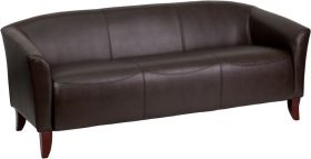 HERCULES Imperial Series Brown Leather Sofa [111-3-BN-GG]