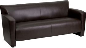 HERCULES Majesty Series Brown Leather Sofa [222-3-BN-GG]