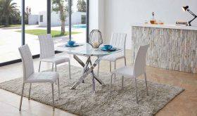 ESF 2303 Dining Table with 3450 Dining Chair Dining Set in White