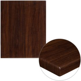 24'' x 30'' High-Gloss Walnut Resin Table Top with 2'' Thick Drop-Lip [TP-WAL-2430-GG]