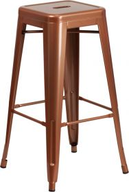 30'' High Backless Copper Indoor-Outdoor Barstool [ET-BT3503-30-POC-GG]