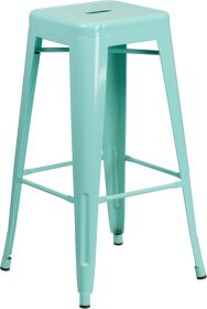 30'' High Backless Mint Green Indoor-Outdoor Barstool [ET-BT3503-30-MINT-GG]