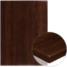 30'' x 42'' High-Gloss Walnut Resin Table Top with 2'' Thick Drop-Lip [TP-WAL-3042-GG]