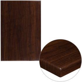 30'' x 45'' High-Gloss Walnut Resin Table Top with 2'' Thick Drop-Lip [TP-WAL-3045-GG]