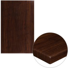30'' x 48'' High-Gloss Walnut Resin Table Top with 2'' Thick Drop-Lip [TP-WAL-3048-GG]