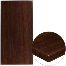 30'' x 60'' High-Gloss Walnut Resin Table Top with 2'' Thick Drop-Lip [TP-WAL-3060-GG]