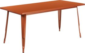31.5'' x 63'' Rectangular Copper Metal Indoor-Outdoor Table [ET-CT005-POC-GG]