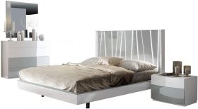 ESF Ronda Modern Bedroom Set with Dali Bed in White & Light Gray