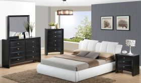 8269/Linda Bedroom Set in White & Black