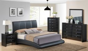 8272/Linda Bedroom Set in Black