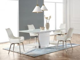Achie Modern Dining Room Set in White