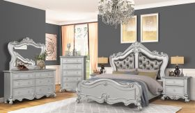 Adriana Contemporary Bedroom Set in Dark Gray