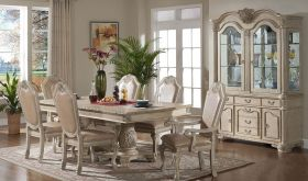 Alaska Traditional Dining Room Set in Antique White