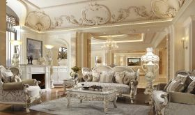 Aliceville Traditional Living Room Set in Antique White