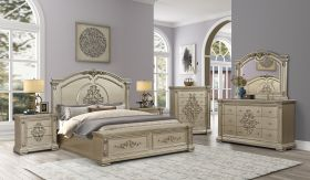 Alicia Contemporary Bedroom Set in Light Brown
