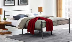 Alina Modern Bed in Brown