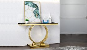 Alisa Traditional  Console Table in Golden