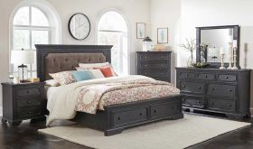 Allentown Traditional Bedroom Set in Brushed Coffee
