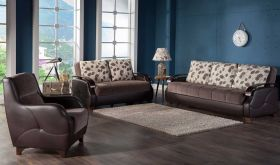 Altmar Convertible Living Room Set in Armoni Brown