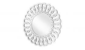 "Altona Modern 31.5"" Round Wall Mirror in Clear"