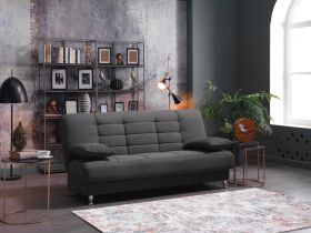 Altoona Convertible Sleeper Sofa in Rainbow Dark Gray