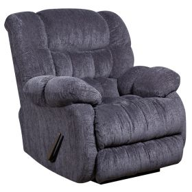 Contemporary Columbia Indigo Blue Microfiber Rocker Recliner [AM-9460-5861-GG]