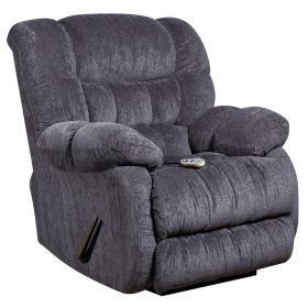 Massaging Columbia Indigo Blue Microfiber Recliner with Heat Control [AM-H9460-5861-GG]