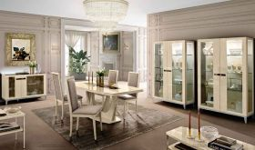 ESF Ambra Dining Room Set in Beige