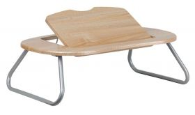 Angle Adjustable Laptop Desk with Natural Top in Natural