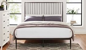 Annika Platform Queen Bed in Brown