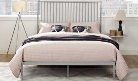 Annika Platform Queen Bed in Gray