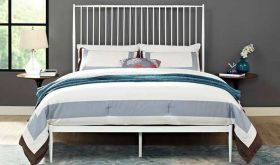 Annika Platform Queen Bed in White