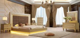 Apache Traditional Bedroom Set in Belle Silver & Gold