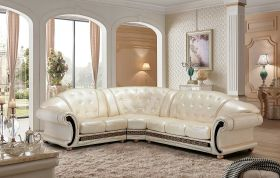 ESF Apolo Sectional Sofa in Pearl with Left Facing Chaise